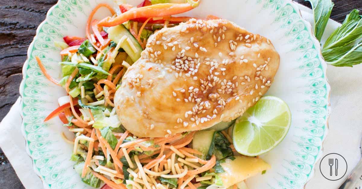 Chicken & mango salad with sweet chilli mayo   Dinner Twist
